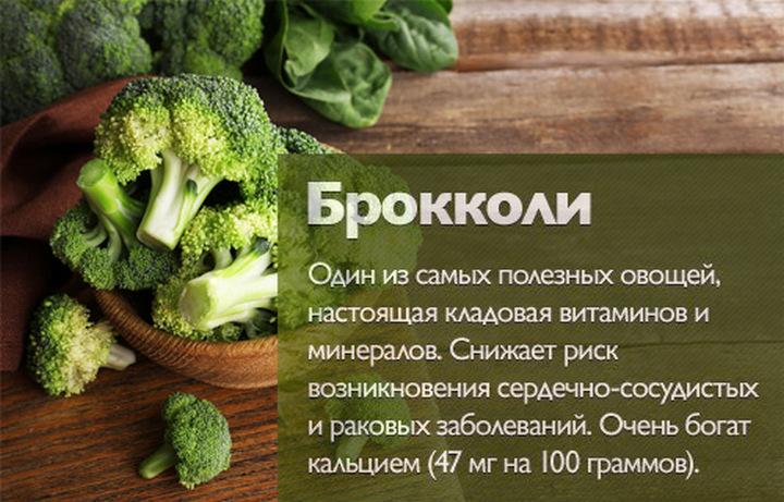 польза брокколи