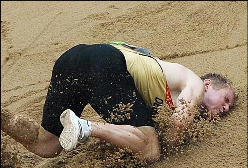 бег на песке