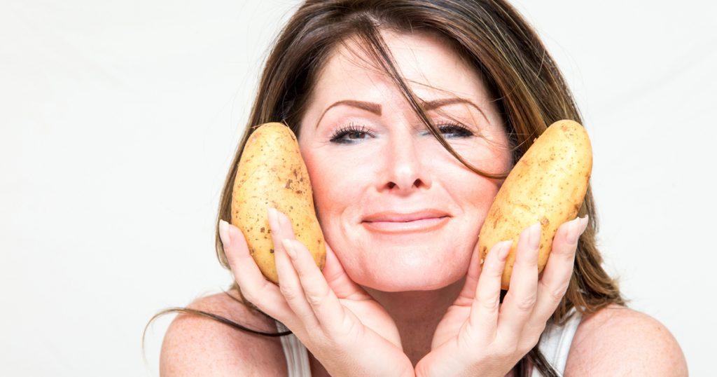 картофель для лица